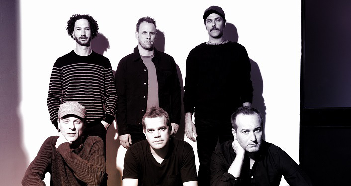 black and white image of Progressive jam band Umphrey's McGee