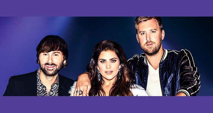 Image of Lady Antebellum, 2 men and 1 woman