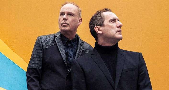 image of Orchestral Manoeuvres in the Dark (OMD), the synth-pop duo from Wirral, England