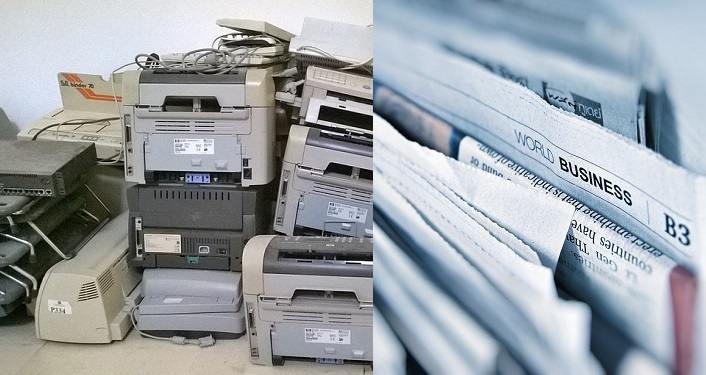 Old printers to recycle, papers to shred