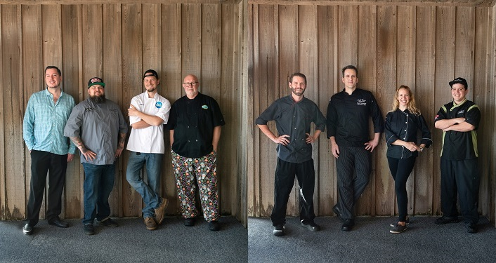image of chefs from Team Island and Team Mainland