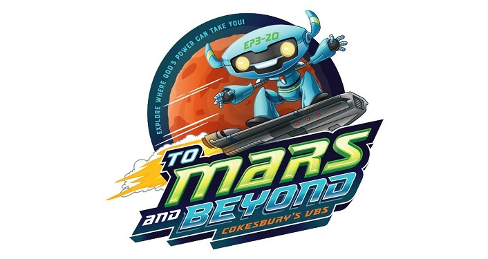 logo showing cartoonish Martian with text To Mars and Beyond