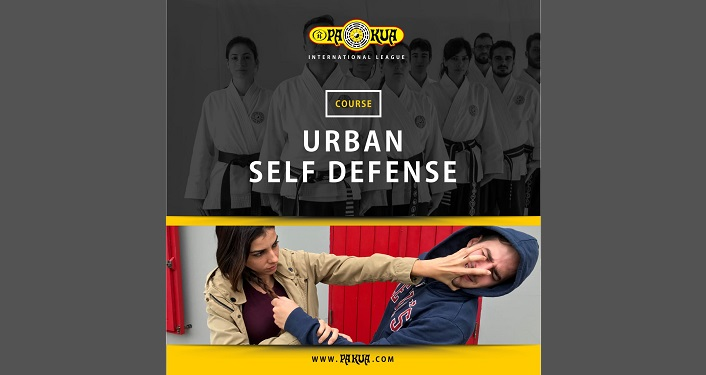 woman defending herself by sticking two fingers into someone's eyes. Taught during Urban Self Defense