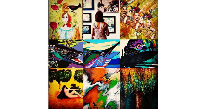 collage of various artwork since on an AGOSA Art Tour