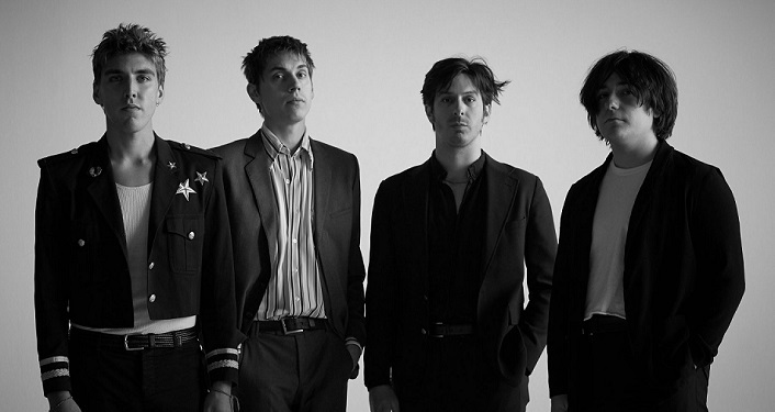 Black & white image of Los Angeles Indie-Rock Group Bad Suns