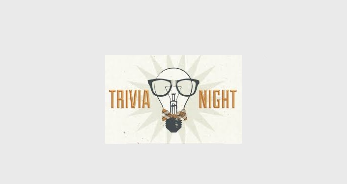 "Caricature image of lightbulb with text ""Trivia Night"""