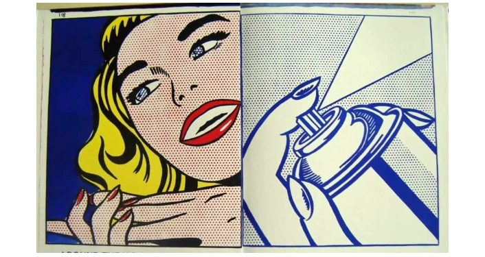 iamge of artwork by Roy Lichtenstein, 1964 on display at 1¢ LIFE - Pop Art & Poetry Exhibition