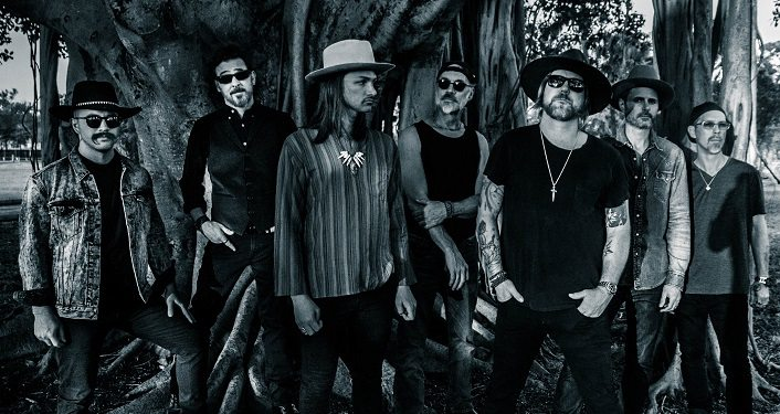 black & white image of The Allman Betts Band