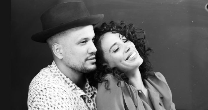 black and white image of Acclaimed soulful husband and wife duo JOHNNYSWIM