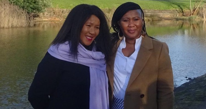 photo of Makaziwe and Tukwini Mandela, the eldest daughter and granddaughter of Nelson Mandela