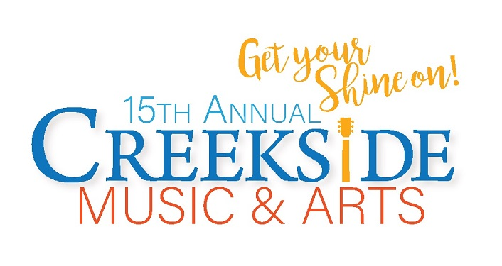 text 15th Annual Creekside Music & Arts Festival, Get Your Shine On