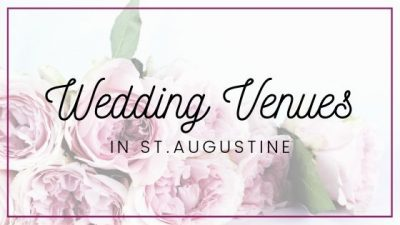 "Image contains a bouquet with text that reads ""Wedding Venues in St. Augustine""."
