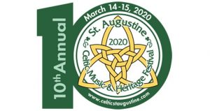 logo with 10th Annual Celtic Festival, March 14-15, 2020
