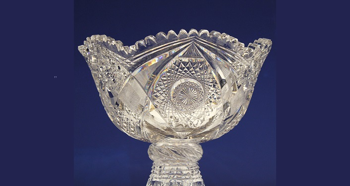 image of cut glass bowl; seen during Lightner Museum Speaker Series: American Brilliant Cut Glass