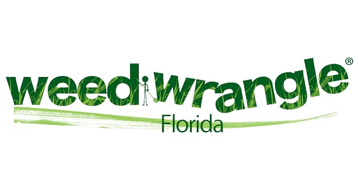 words in green font; Weed Wrangle Florida