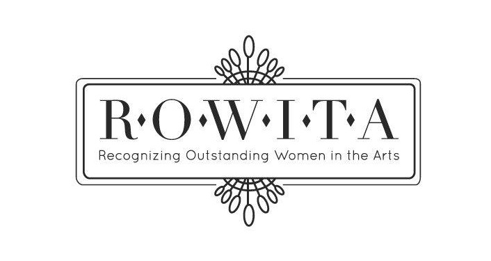 text in black on white background; ROWITA Awards Ceremony...Recognizing Outstanding Women in the Arts