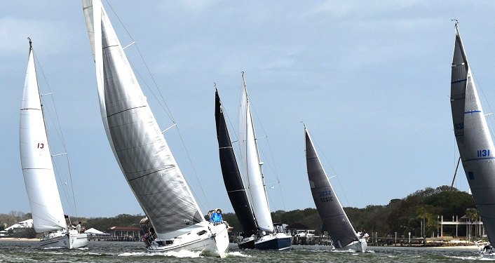 image of sailboats racing during St. Augustine Race Week