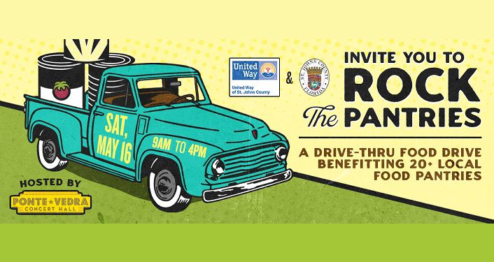 Rock The Pantries, Drive-Thru Food Drive - Ponte Vedra Concert Hall