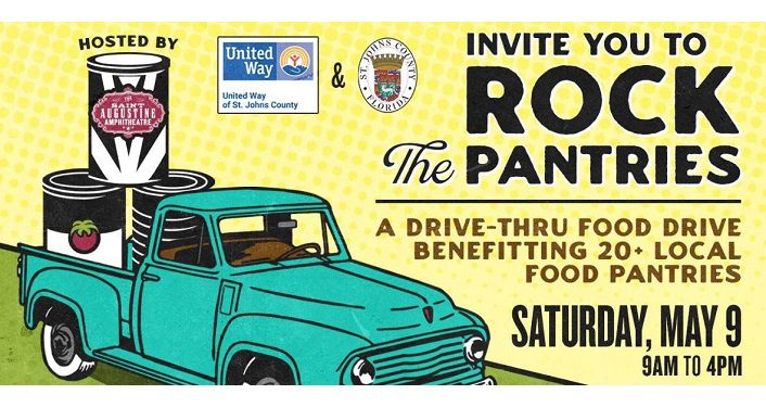 Rock The Pantries, Drive-Thru Food Drive - St. Augustine Amphitheatre