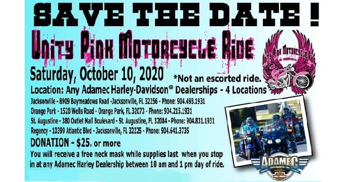 Unity Pink Motorcycle Ride