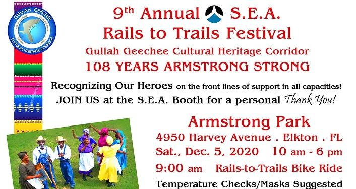 9th Annual S.E.A. Rails to Trails Festival 2020 Celebrating Gullah Geechee Heritage