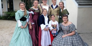 Group photo of Girl Scouts at Ximenez-Fatio House Museum
